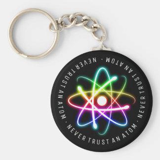 Chaveiro Nunca confie presentes engraçados de uma ciência