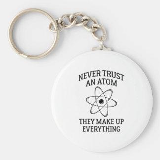 Chaveiro Nunca confie um átomo
