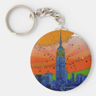 Chaveiro NYC psicadélico: Empire State Building #3