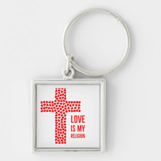 Chaveiro O amor é minha corrente chave da religião