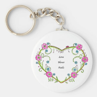 Chaveiro O amor nunca falha a corrente chave