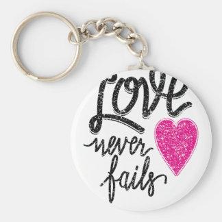 Chaveiro o amor nunca falha, coração do vintage