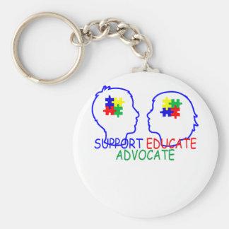 Chaveiro o apoio do autismo educa o advogado.