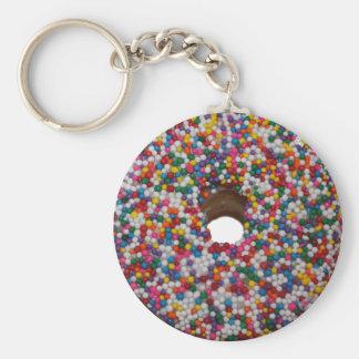 Chaveiro O arco-íris polvilha a corrente chave da rosquinha