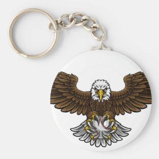 Chaveiro O basebol de Eagle ostenta a mascote