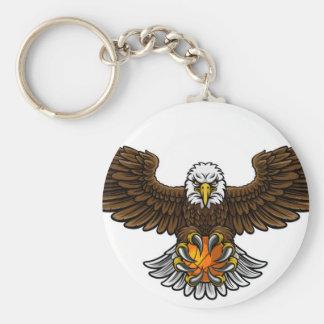 Chaveiro O basquetebol de Eagle ostenta a mascote
