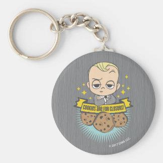 Chaveiro O bebê & os biscoitos do bebê | do chefe são para