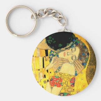 Chaveiro O beijo pela arte Nouveau de Gustavo Klimt