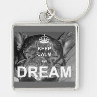 Chaveiro O buldogue francês mantem o sonho calmo