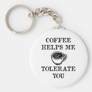 Chaveiro O café ajuda-me a tolerá-lo