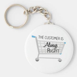 Chaveiro O cliente é sempre direito