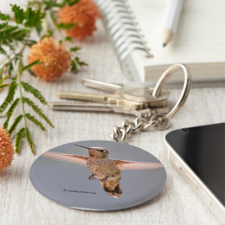 Chaveiro O colibri de Anna paira no lugar