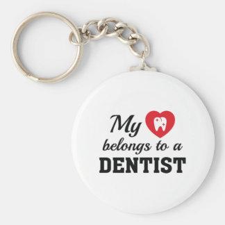 Chaveiro O coração pertence dentista
