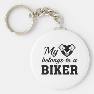 Chaveiro O coração pertence motociclista