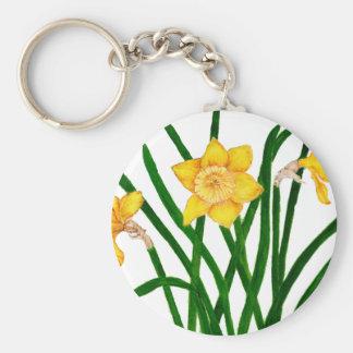 Chaveiro O Daffodil floresce trabalhos de arte da pintura