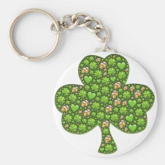 Chaveiro O dia de St Patrick da cerveja do trevo do trevo,