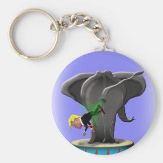 Chaveiro o elefante trumping de surpresa