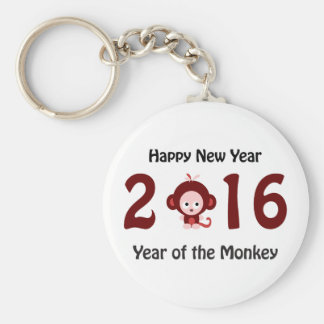 Chaveiro O feliz ano novo 2016 anos do macaco