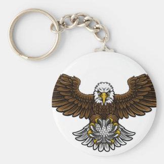 Chaveiro O golfe de Eagle ostenta a mascote