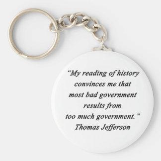 Chaveiro O governo mau - Thomas Jefferson