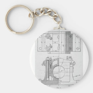 Chaveiro O gráfico do mecânico industrial do vintage