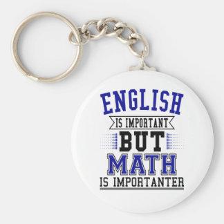 Chaveiro O inglês é importante mas a matemática é chalaça