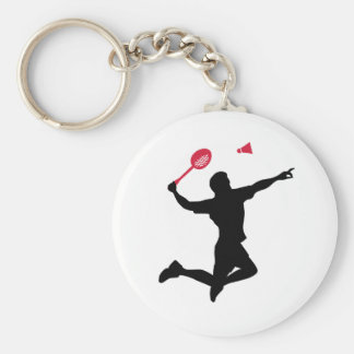 Chaveiro O jogador do Badminton salta