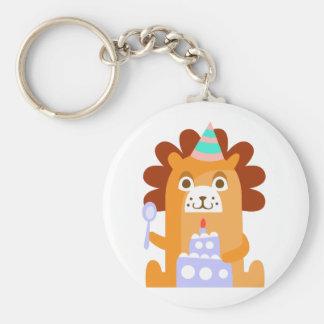 Chaveiro O leão com partido atribui Funky estilizado