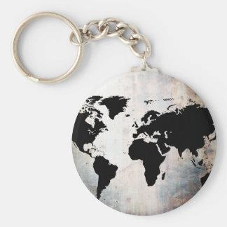 Chaveiro O mapa do mundo oxidou metal