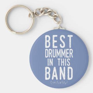 Chaveiro O melhor baterista (provavelmente) (branco)