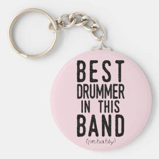 Chaveiro O melhor baterista (provavelmente) (preto)