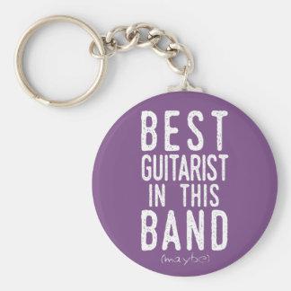 Chaveiro O melhor guitarrista (talvez) (branco)