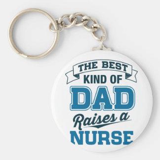 Chaveiro O melhor tipo do pai aumenta uma enfermeira