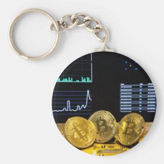 Chaveiro O mercado do circuito do trio de Bitcoin faz um