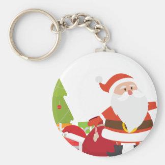 Chaveiro O Natal Papai Noel apresenta a presente desenhos