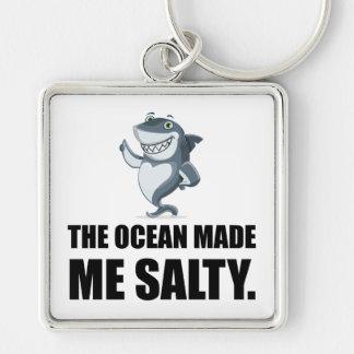 Chaveiro O oceano fez-me o tubarão salgado