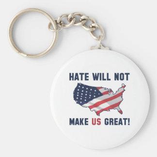 Chaveiro O ódio não fará o excelente dos E.U.