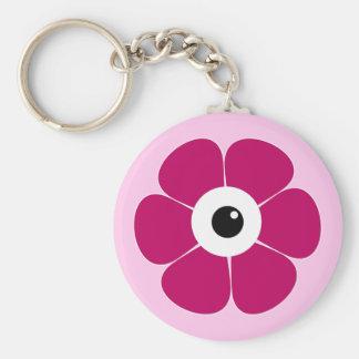 Chaveiro o olho da flor cor-de-rosa