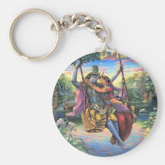 Chaveiro O passatempo do balanço - Radha e Krishna