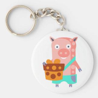 Chaveiro O porco com partido atribui Funky estilizado
