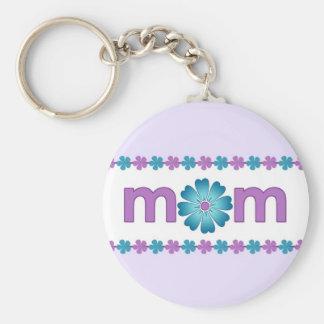 Chaveiro O primavera roxo do dia das mães floresce o