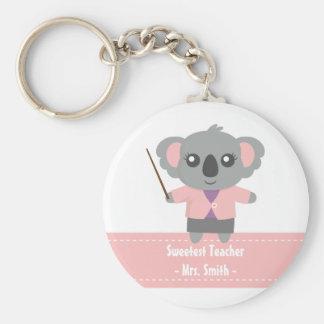 Chaveiro O professor o mais doce, urso de Koala bonito,
