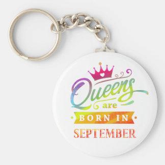 Chaveiro O Queens é em setembro presente de aniversário