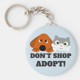 Chaveiro O salvamento do cão do gato do animal de estimação