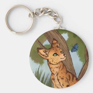 Chaveiro O Serval e a borboleta