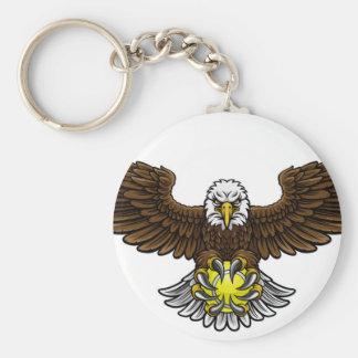 Chaveiro O tênis de Eagle ostenta a mascote