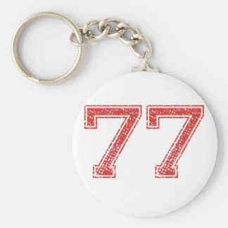 Chaveiro O vermelho ostenta Jerzee número 77