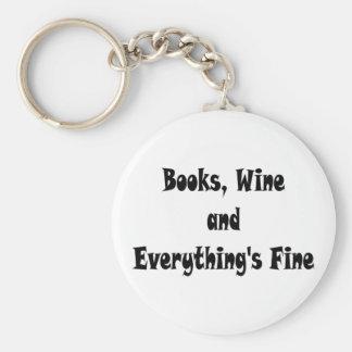 Chaveiro O vinho dos livros tudo é corrente chave fina
