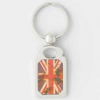 Chaveiro O vintage oxidou bandeira de Reino Unido