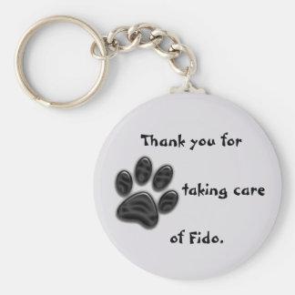 Chaveiro Obrigado do baby-sitter do cão você chave original